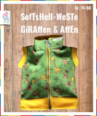 Softshell-Weste Gr. 68/74